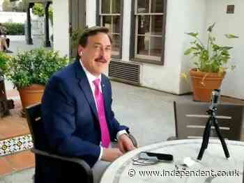 Mike Lindell live interview crashed by man who calls him a 'marginally brain-addled corrupt goofball'