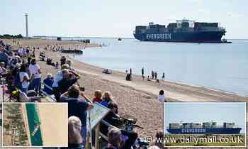 Ever Given finally arrives in Felixstowe 133 DAYS after it got stuck in Suez Canal