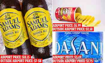 Major airport retailer faces audit investigating food and drink prices aftertweet showing $28 beer