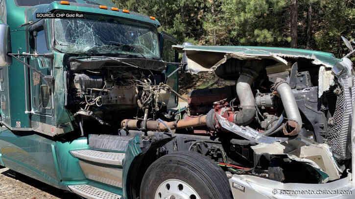 2 Big Rigs Involved In Crash Near Baxter In Sierra