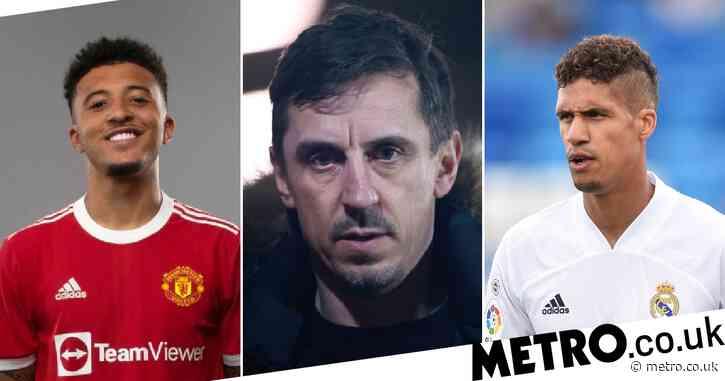 Gary Neville rates Manchester United's summer transfer business after Raphael Varane and Jadon Sancho deals