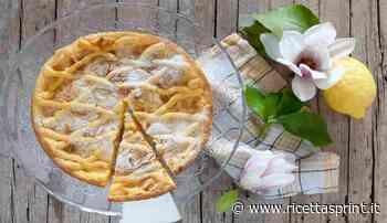 Crostata con crema al limone e amaretti | facile e buonissima - RicettaSprint