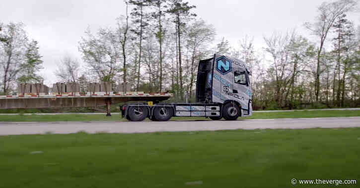 Nikola shows its truck going uphill, for a change