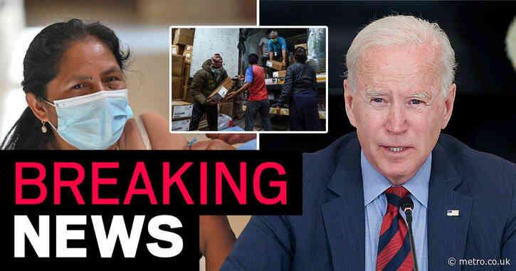 Joe Biden announces US has delivered 100million Covid vaccines abroad