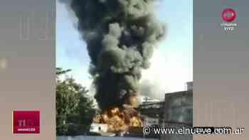 Impactante incendio en una cervecería de Quilmes - Nacionales TL9, TL9 Noticias (Clips) - telenueve