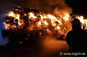 Flammeninferno nahe Leipzig! Hunderte Strohballen abgefackelt - TAG24