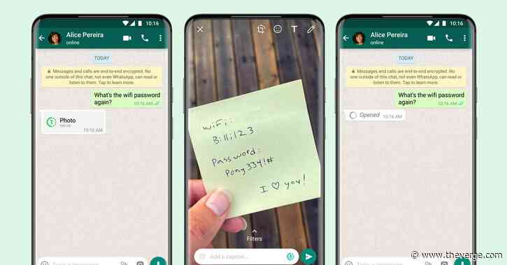 WhatsApp launches its 'View Once' disappearing photos and videos