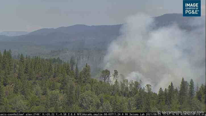 Wildfire Originally Thought Stopped Beyond Fire Line Now Threatening Structures Near Placerville