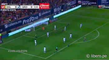 Lozano anotó el 1-0 para San Luis en los primeros minutos del partido - Libero.pe