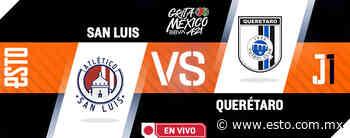 Atlético de San Luis vs Querétaro, en vivo jornada 2 'Grita México' A21 - ESTO