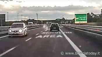 Follia in autostrada: panico per un'auto in contromano - BresciaToday