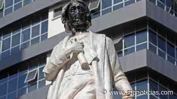 Intervienen monumento a Cristóbal Colon en Bolivia - sdpnoticias