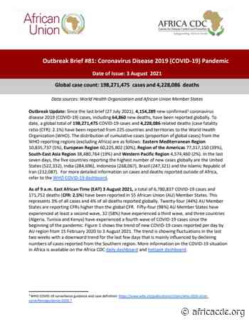 Outbreak Brief 81: Coronavirus Disease 2019 (COVID-19) Pandemic – Africa CDC - africacdc.org