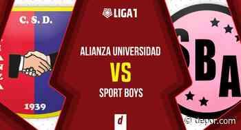 Alianza Universidad vs. Sport Boys: sigue el minuto a minuto y la transmisión - Diario Depor