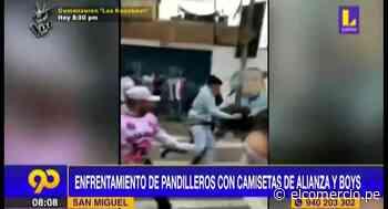 San Miguel: hinchas de Alianza Lima y Sport Boys se enfrentaron en las calles - El Comercio