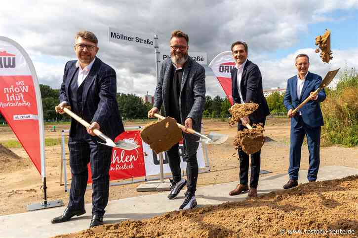 318 neue Mietwohnungen baut die kommunale Wohnungsgesellschaft Wiro bis Ende 2024 zwischen Schleswiger und Möllner Straße – 42 davon werden sozial gefördert