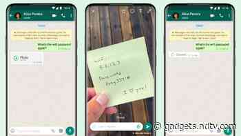WhatsApp's 'View Once' Feature Lets You Send Disappearing Photos, Videos That Can Be Viewed a Single Time