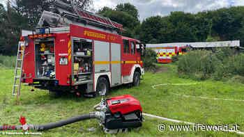 D: Vollbrand eines Wintergartens in Mettmann führt zu Großeinsatz der Feuerwehr   Fireworld.at - Fireworld.at
