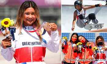Team GB's Sky Brown makes history with bronze medal in park skateboarding, aged 13