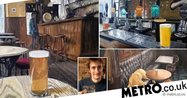 Brewer missed his local so much he spent furlough painting incredible pub scenes
