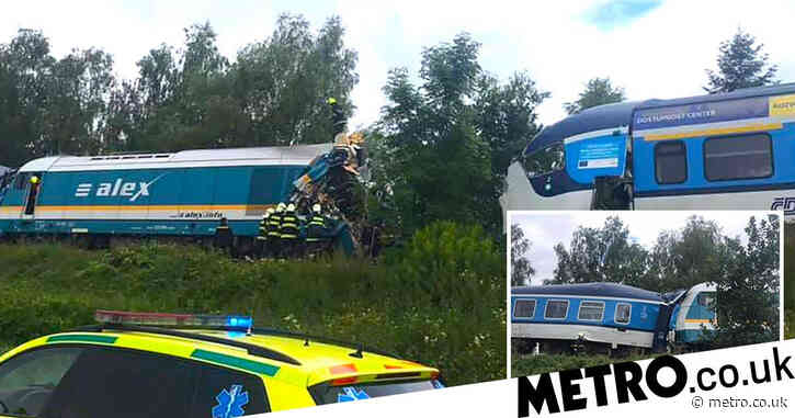 Two dead and dozens injured after passenger trains collide in Czech Republic