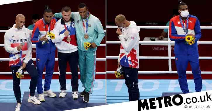 Team GB boxer Ben Whittaker slammed for refusing to wear silver medal and sulking on podium