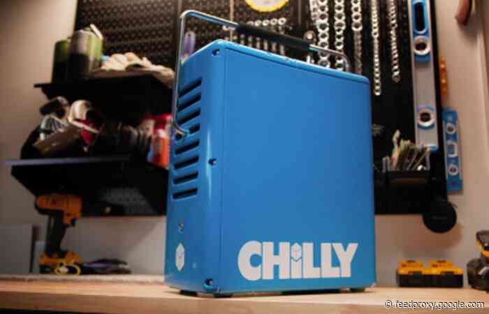CHILLY rotomolded portable cooler powered by ice and water