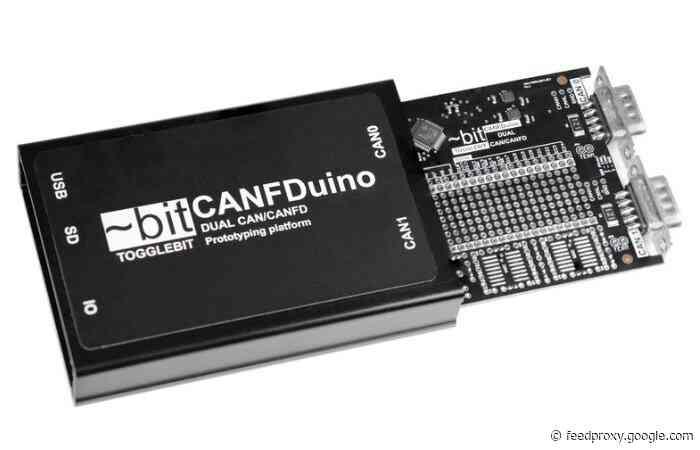CANFDuino open source CAN bus Arduino board
