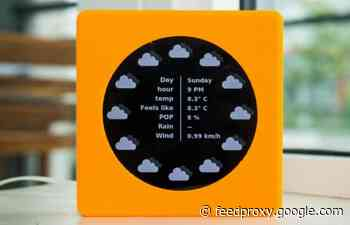 Raspberry Pi weather clock project