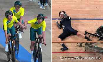 Epic crash hands Australia bronze in the men's team cycling pursuit at Tokyo Olympics