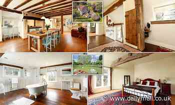 Five bedroom Kent farmhouse with its own LAKE said to be built for a Prince goesfor sale for £1.9m