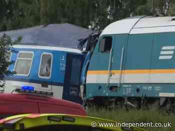 Three dead after double train crash in Czech Republic