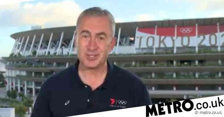 Olympics broadcaster remains totally composed as live report rocked by Tokyo earthquake