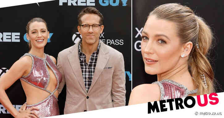 Blake Lively and Ryan Reynolds as loved-up and stylish as ever at Free Guy premiere