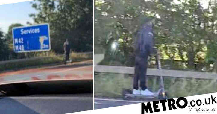 E-scooter rider spotted 'doing his daily commute' on motorway hard shoulder