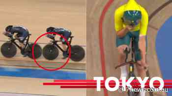 Watch Australian men's cycling pursuit win bronze at Tokyo 2020 Olympics after New Zealand team crashes into each other - 7NEWS.com.au