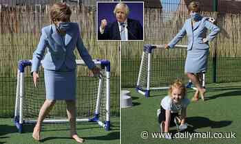 Nicola Sturgeon prepares for more political football as Boris Johnson makes visit to Scotland TODAY