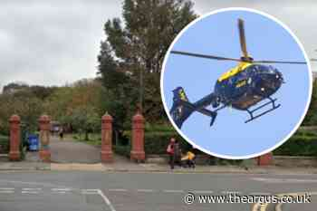 Police helicopter called after suspected robbery in Hove