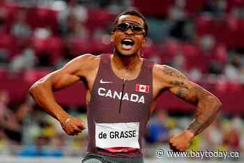 Canadian sprinter Andre De Grasse races to gold in men's 200 metres