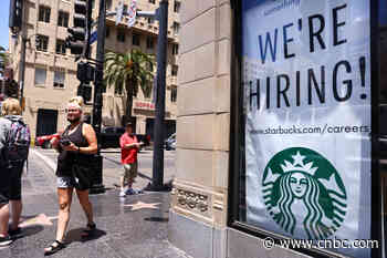 Private companies added 330,000 jobs in July, according to ADP, far short of the 653,000 estimate - CNBC