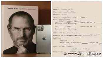 Apple co-founder Steve Jobs' only job application auctioned for whopping Rs 2.5 crore - DNA India