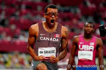 De Grasse ends Canada's two-day medal drought in Tokyo in electrifying fashion