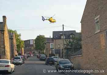 Air ambulance called to garden fire in Nelson which sees man taken to hospital