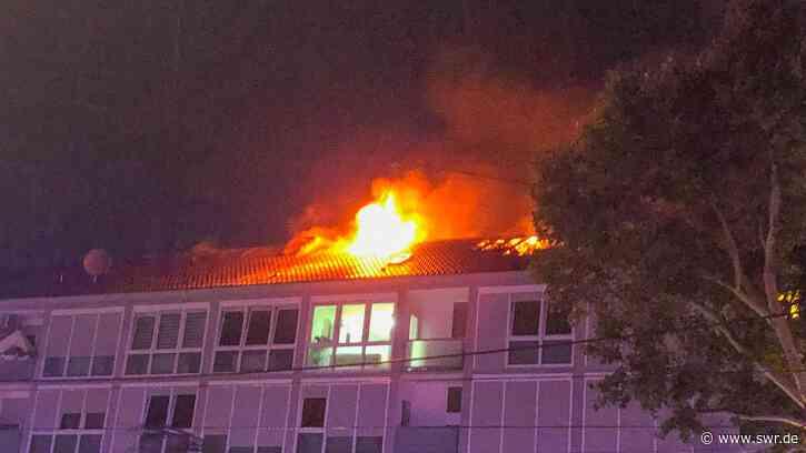 Gebäude in Flammen: 20 Bewohner in Karlsruhe vor Feuer gerettet - SWR