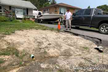 Local resident frustrated that his front lawn has become a dangerous sand trap