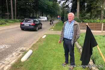 Bewoner Kempenstraat protesteert tegen snel verkeer op wegomlegging