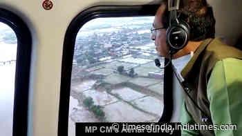 Madhya Pradesh: Shivraj Singh Chauhan conducts aerial survey of flood-hit areas