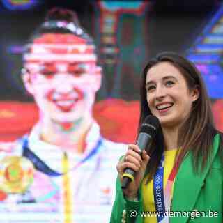 Live - 'Een overweldigend gevoel':  gouden Nina Derwael gehuldigd in thuisstad Sint-Truiden