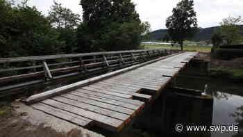 Kirchenwegbrücke in Gaildorf: Sanierung der Brücke gestaltet sich aufwendig und schwierig - SWP