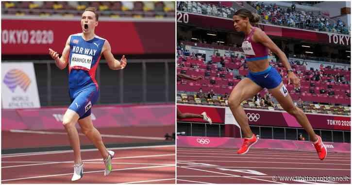"""Le nuove scarpe che fanno discutere il mondo dell'atletica durante le Olimpiadi: sono come i """"costumoni"""" che rivoluzionarono il nuoto?"""